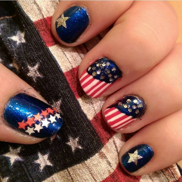 patriotic 4th of july nails bmodish