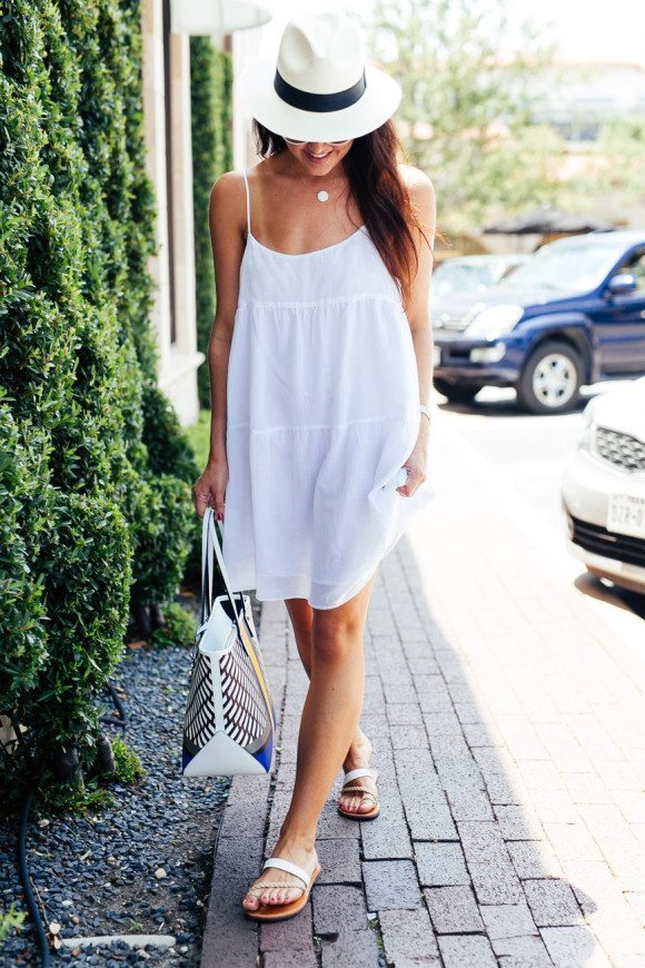 simple white dress for summer bmodish