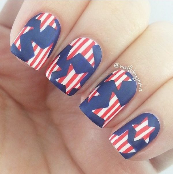stars happy 4th of july nails bmodish