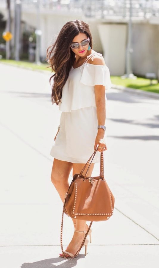 topshop little white dress bmodish