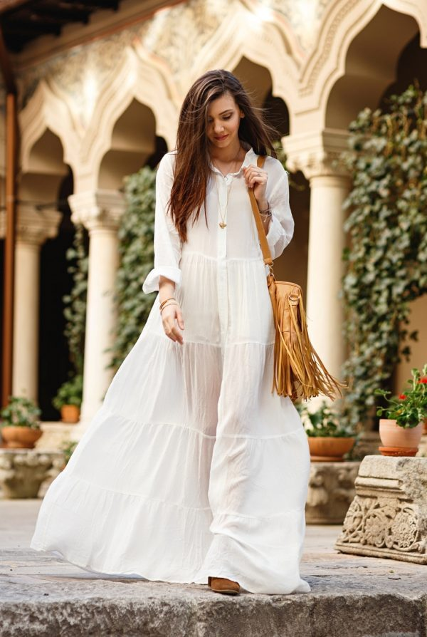 white maxi dress for this spring summer bmodish