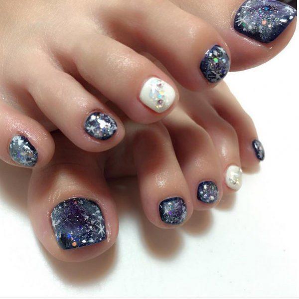 galaxy toenails bmodish