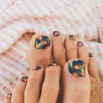 tropical summer toenail design ideas