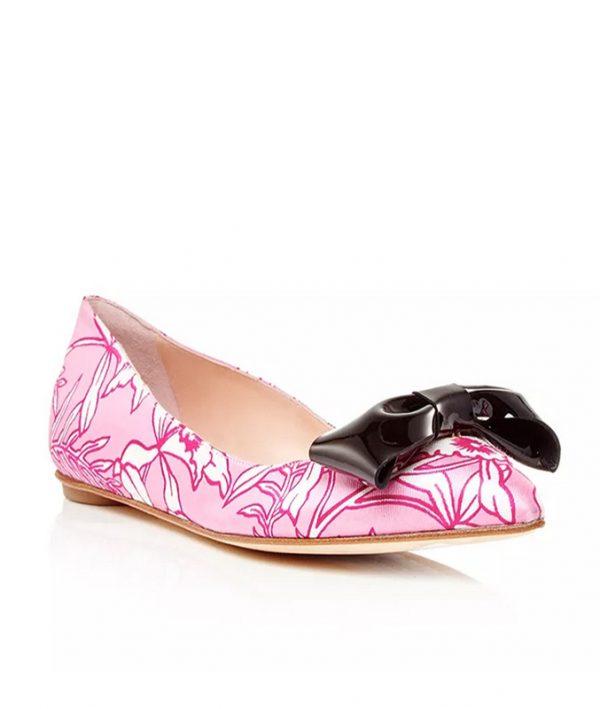 Oscar-de-la-Renta-Carnation-Pink-Silk-Juju-Flats bmodish