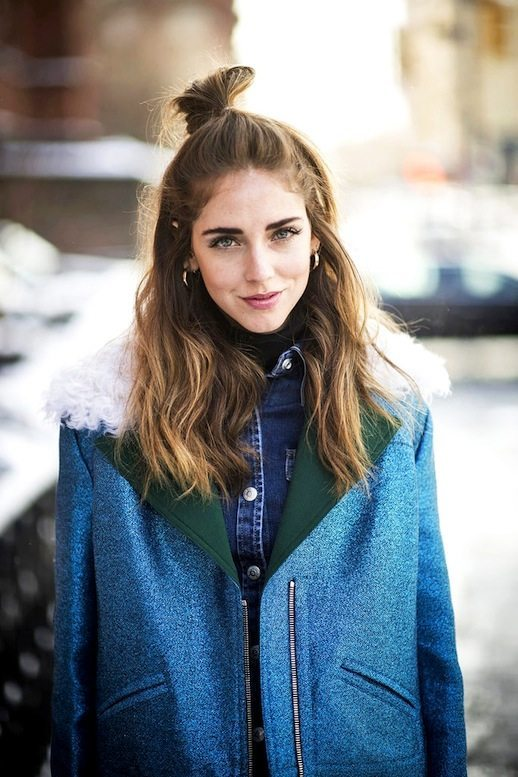 Chiara Ferragni The Blonde Salade Hair Bun Via bmodish