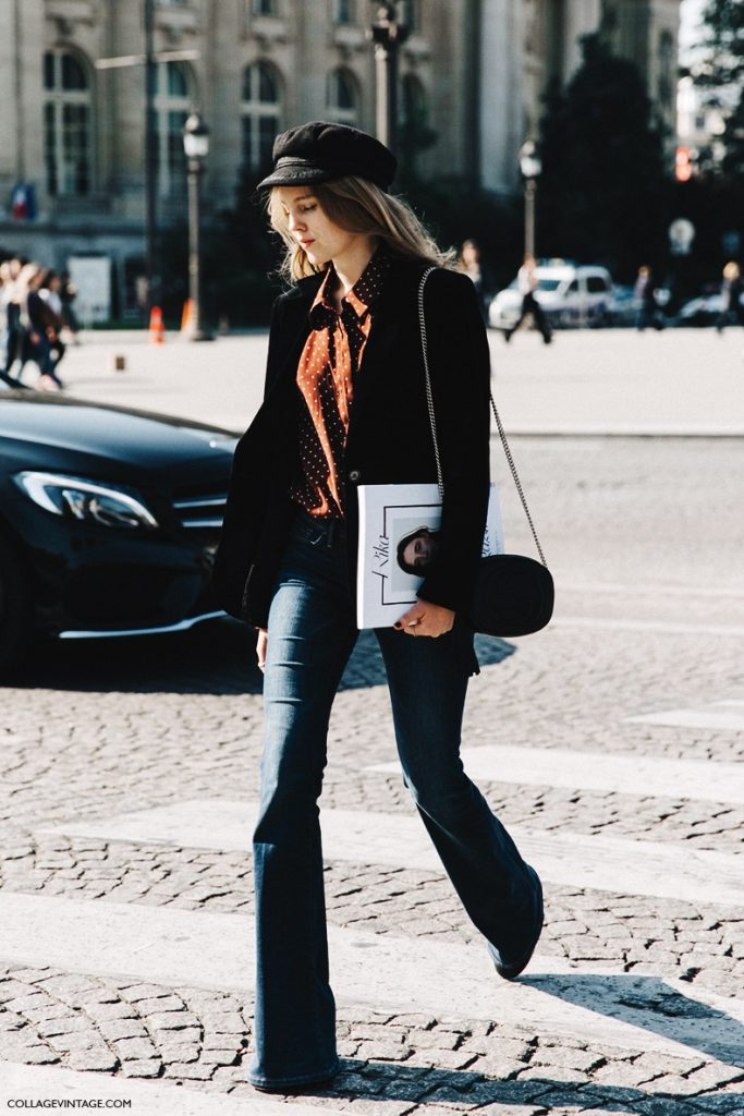 how to wear flared jeans street style