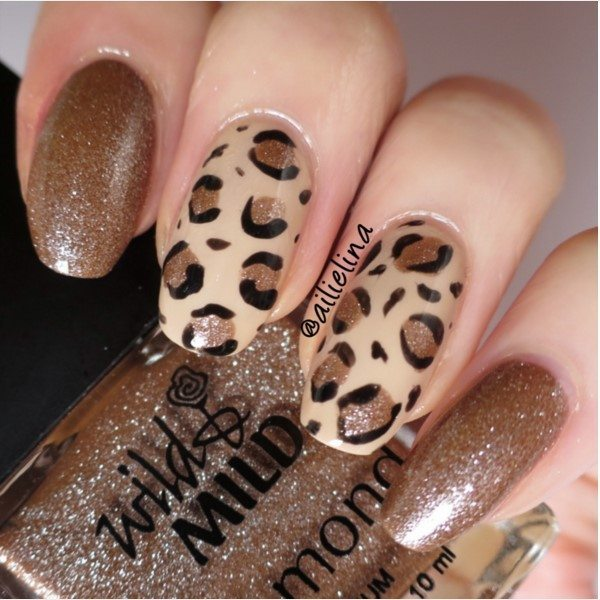 brown leopard nails bmodish