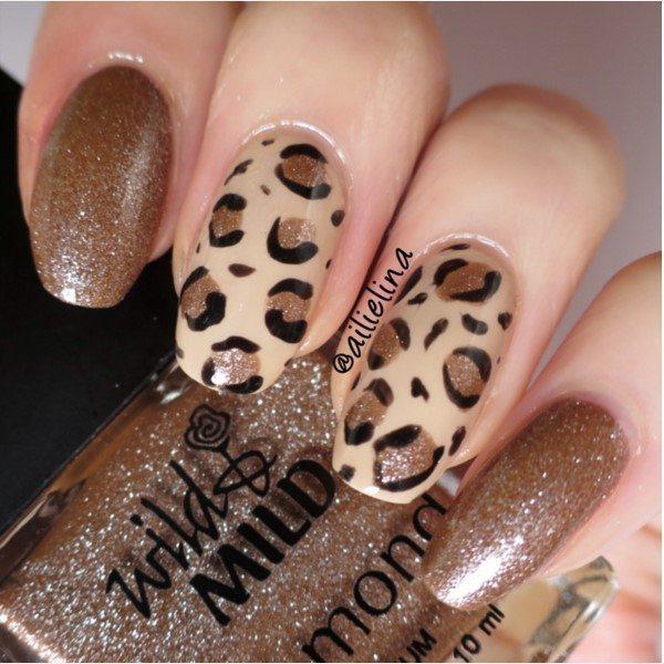 brown leopard nails bmodish
