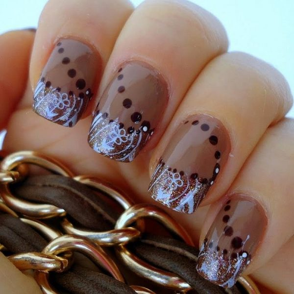 30 Crispy And Fun Brown Nail Designs Be Modish
