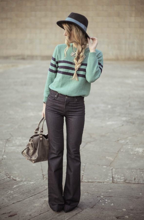 flare david khan jeans with sweater bmodish