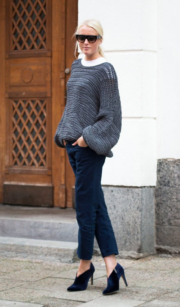 knit mango sweater stylish outfit bmodish
