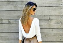 how to wear long skirt with backless top