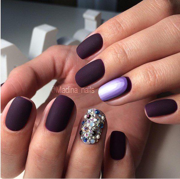 matte purple ruffian nail art bmodish