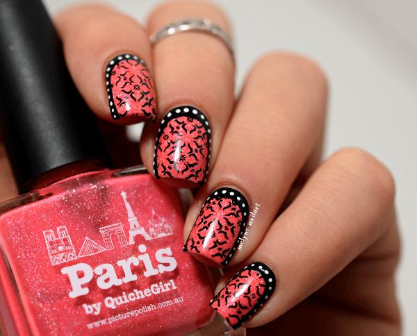 baroque stamping ruffian nail art 2