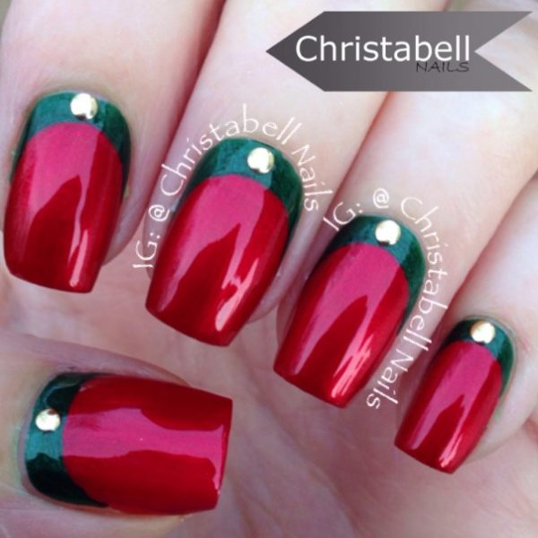 red and green ruffian nails bmodish
