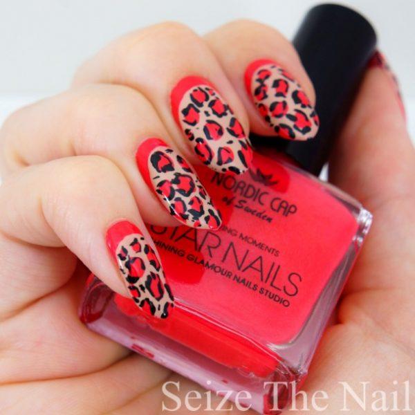 red leopard ruffian nail art bmodish