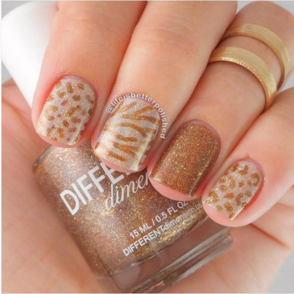 retrograde brown nail art bmodish