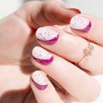 sideway ruffian nail art