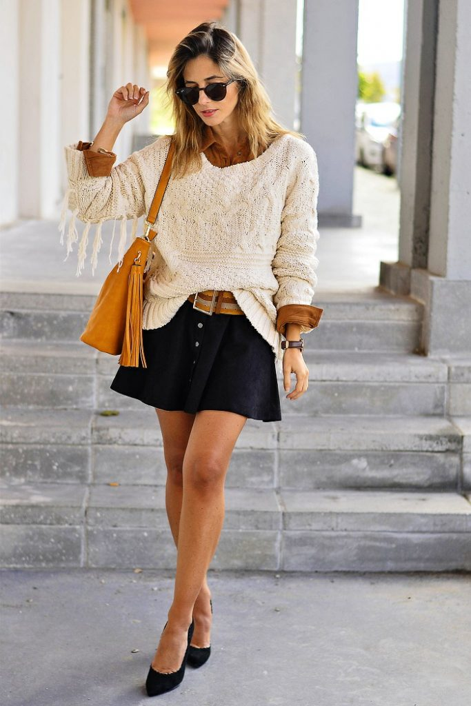 suede shirt early fall outfit bmodish