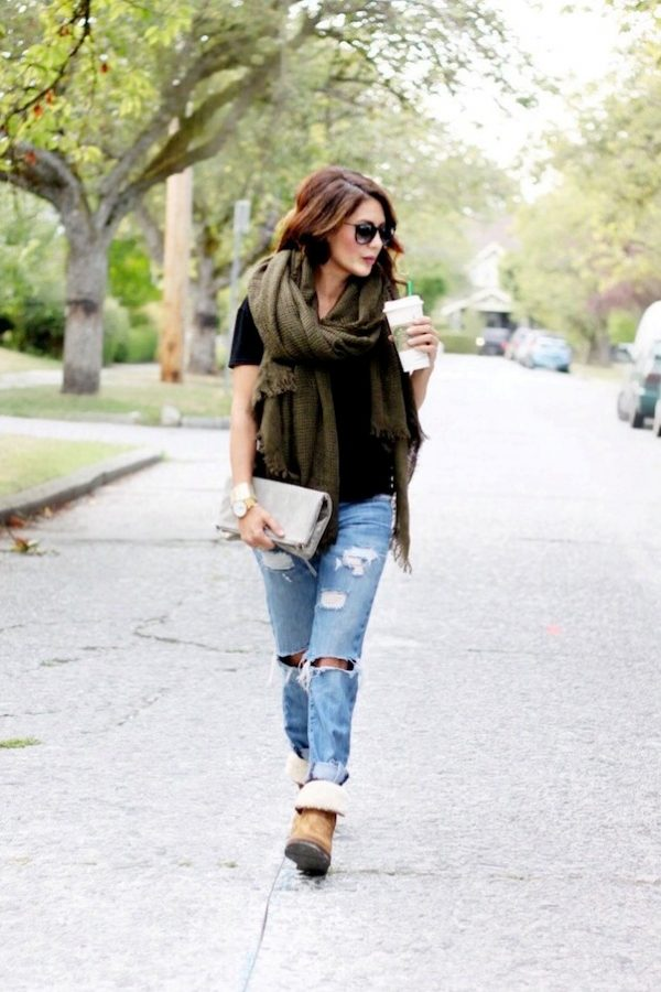 ugg boots ready for fall outfit bmodish
