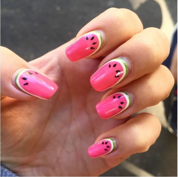 watermelon ruffian nails bmodish