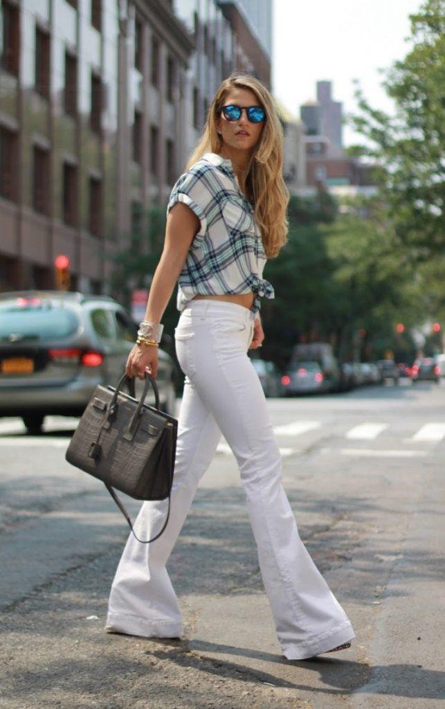 white flare jeans trend bmodish