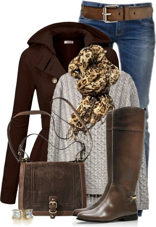 Trench Coat and Riding Boots outfit polyvore bmodish
