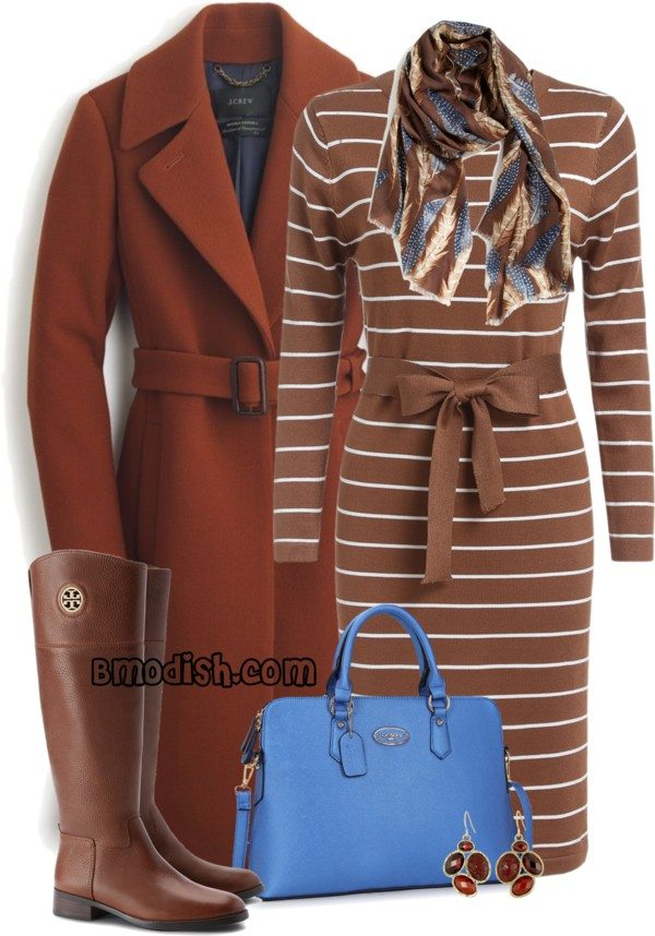 bow sweater dress classy fall winter outfit with riding boots polyvore bmodish
