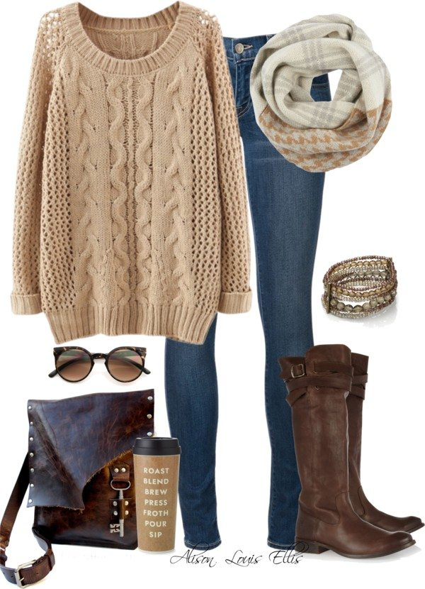 fall Winter Warmth casual polyvore outfit bmodish