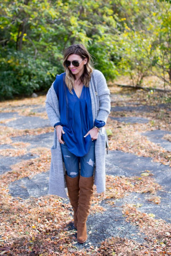 free people tunic with tall brown boots bmodish