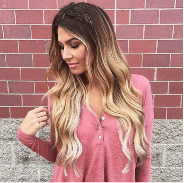 ombre brown to blonde fall weave hair bmodish