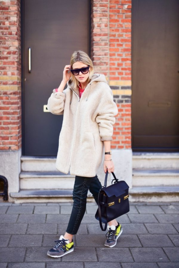 oversize teddy coat cozy fall outfit bmodish