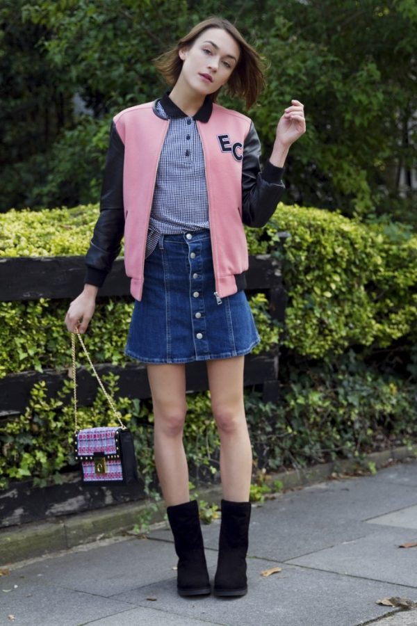 preppy fall outfit with ugg boots bmodish