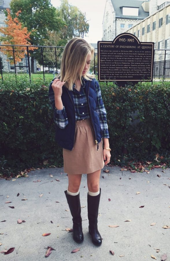 pretty preppy fall outfit bmodish