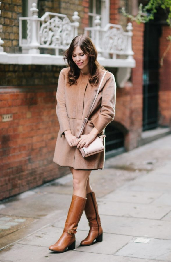 suede coat brown boots fall outfit bmodish