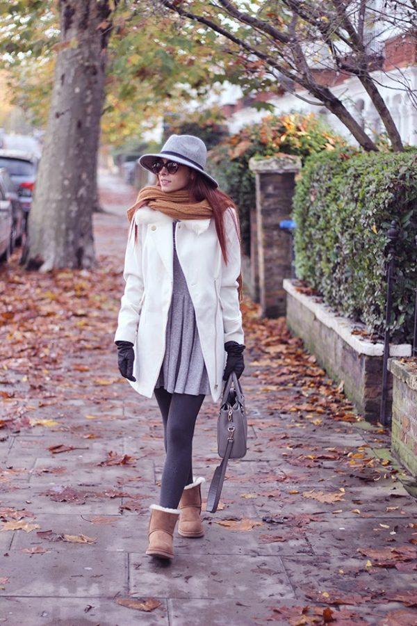 dress, legging with ugg boots bmodish