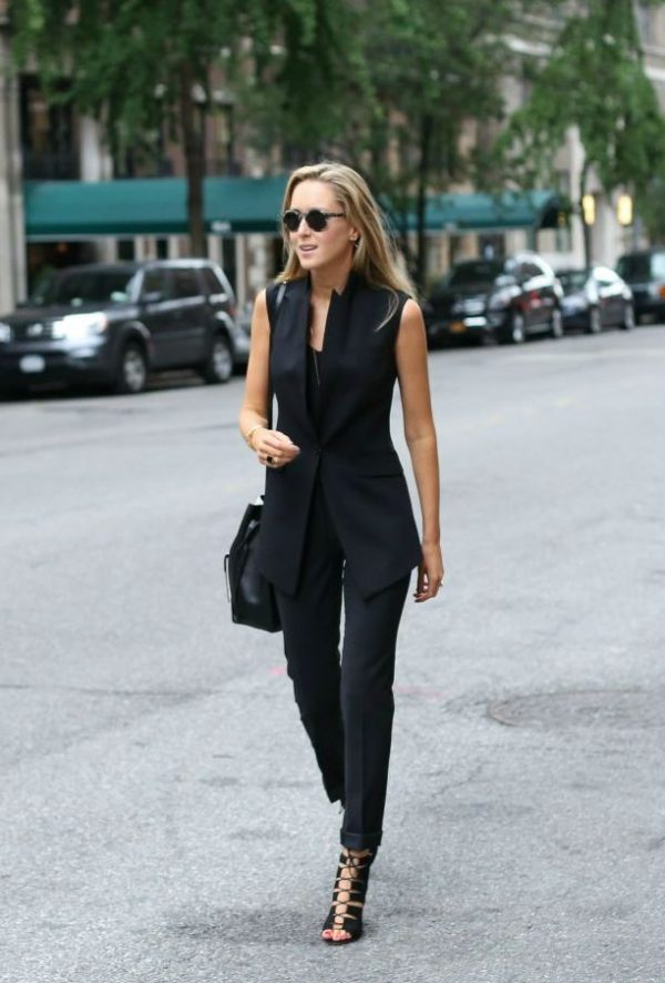 how to wear black suit for women bmodish