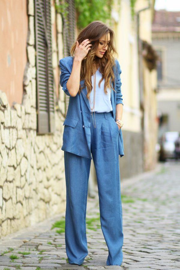 blue suit menswear look bmodish