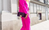 how to wear hot pink suit street style bmodish
