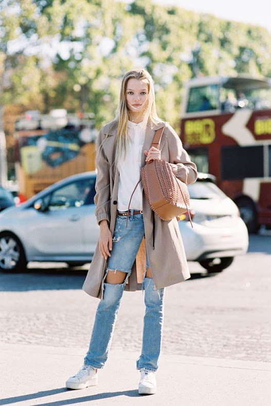 fall neutral inspired street style look bmodish