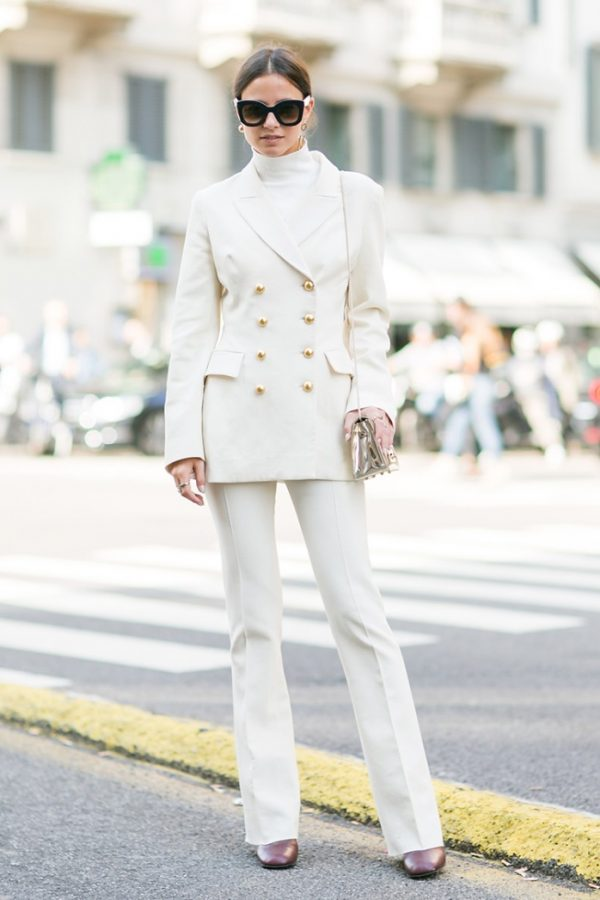 how to wear double breasted white suit in fall bmodish
