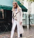 neutral long coat fall outfit bmodish