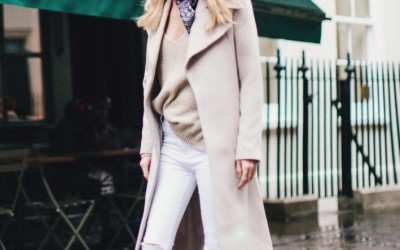 neutral long coat fall outfit bmodish