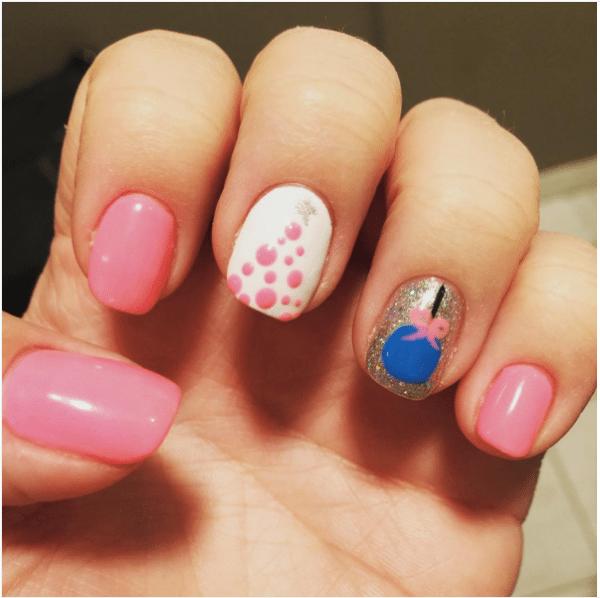 pink christmas nail design bmodish