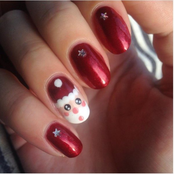 really cute santa weihnachtsmann nail art bmodish
