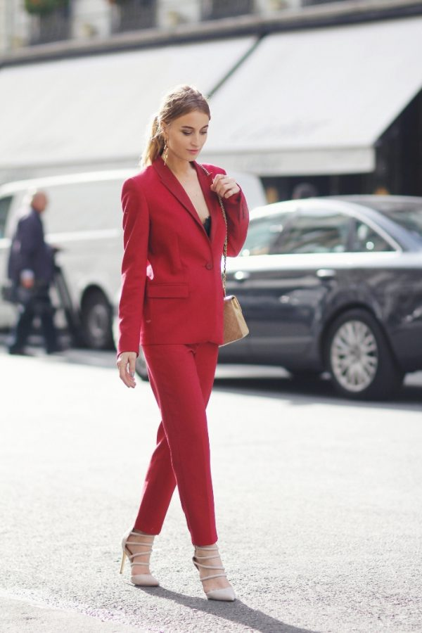 how to wear red suit stylishly bmodish
