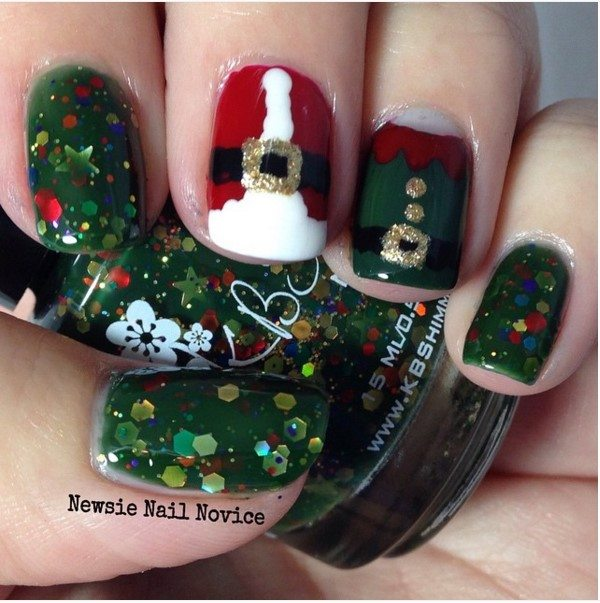 santa elf manicure design bmodish