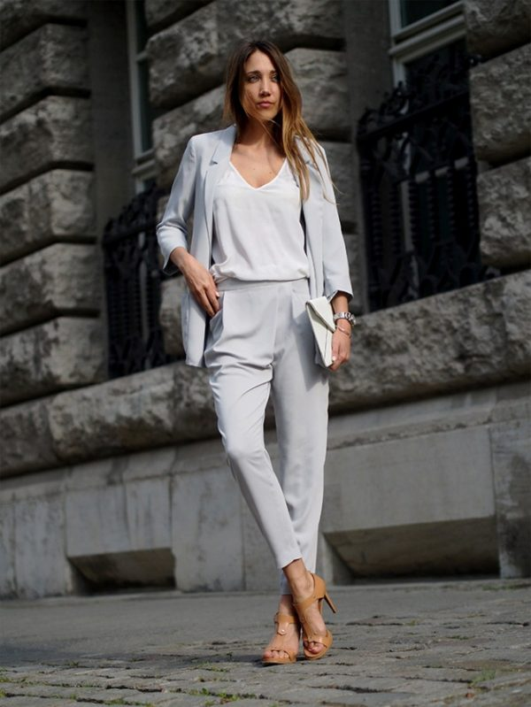 how to wear a suit womens bmodish