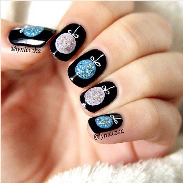 xmas short nail art bmodish