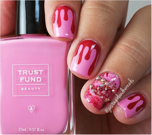 halloween pink nail design bmodish